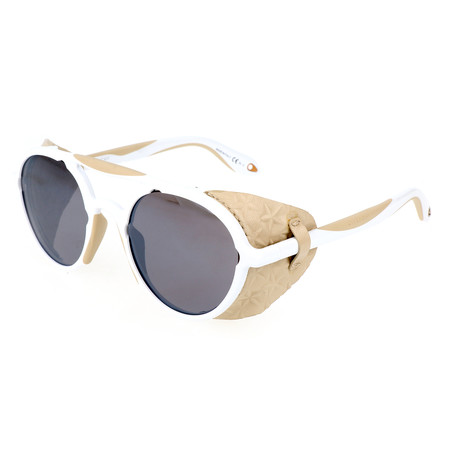 Unisex 7038 Sunglasses // White Beige + Brown
