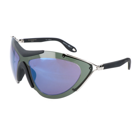 Unisex 7013 Sunglasses // Palladium Black + Gray Green + Blue Sky