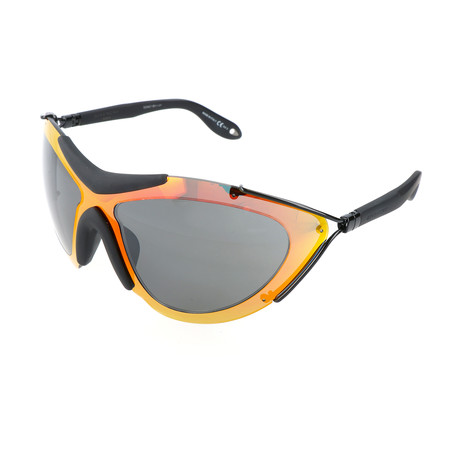 Unisex 7013 Sunglasses // Black Orange Flash + Gray