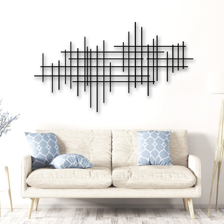 """Linear 2"" Metal Wall Sculpture"