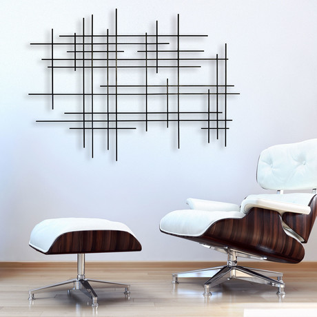 """Linear 1"" Metal Wall Sculpture"