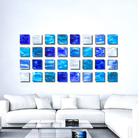 """Water"" Glass Wall Sculpture"