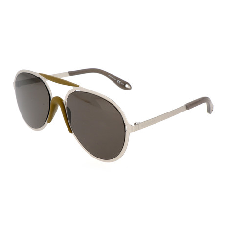 Men's 7039 Sunglasses // Matte Palladium + Brown Gray