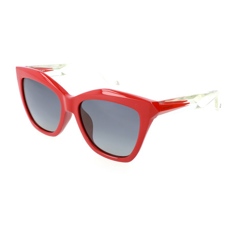 Women's 7022 Sunglasses // Red Crystal + Gray