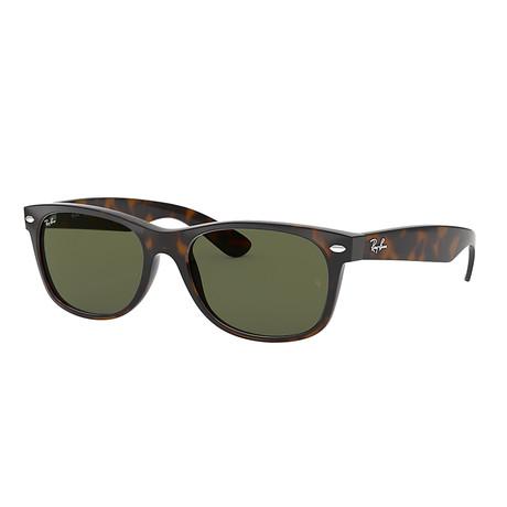 Unisex Wayfarer Sunglasses // Brown + Green