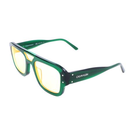 Men's CKNYC1953S Sunglasses // Crystal Green + Clear