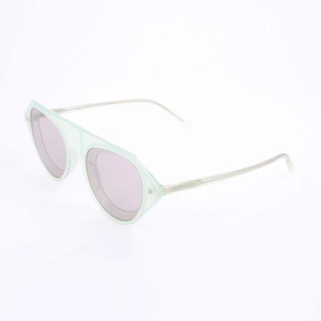 Men's CKNYC1854SR Sunglasses // Milky Light Green