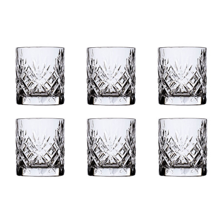ECO CRYSTAL // Melodia Old Fashioned // Set of 6