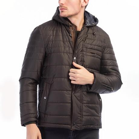 Garret Coat // Brown (Small)