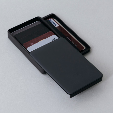 Zenlet 2 Plus Wallet // RFID Blocking Tray + Horizontal Compartment // Space Gray