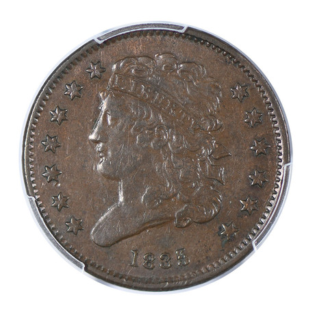 1835 Capped Bust Half-Cent PCGS Certified XF40