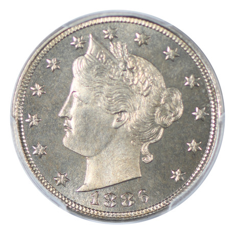 1886 Liberty Nickel PCGS Certified PR66+
