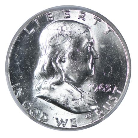 "1963 Franklin Half Dollar ""Bugs Bunny"" PCGS Certified MS64"