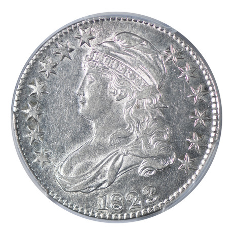 1823 Capped Bust Half Dollar PCGS Certified AU55