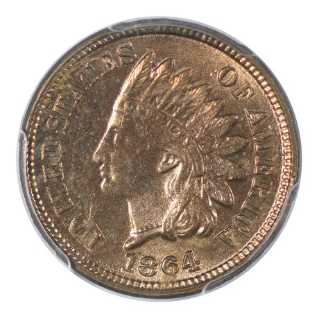 1864 Indian Head Cent PCGS Certified MS64