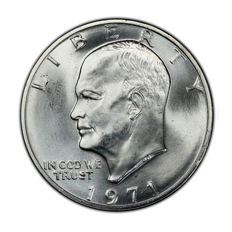 1971-1974 President Eisenhower Silver Dollar in Mint State Condition