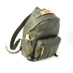 Women's Mini Logo Backpack // Olive Green
