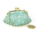 Boutique Women's Sprinkles Design Clutch // Green