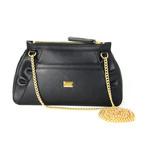 Boutique Women's Flower Designed Shoulder Bag // Black