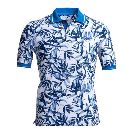 Mads Polo Shirt // White + Blue (S)