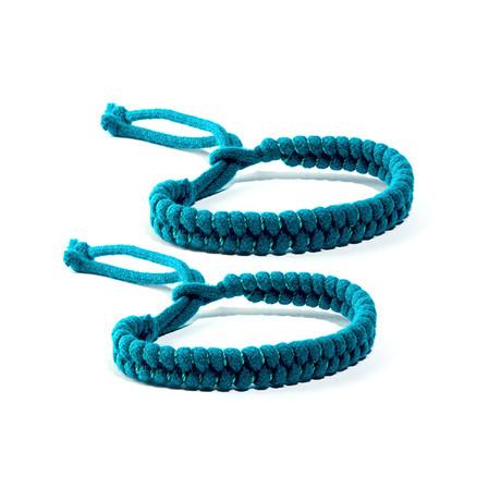 MosquitNo Nano-Tech Woven Bracelet Multipacks // Light Blue (Set of 2)