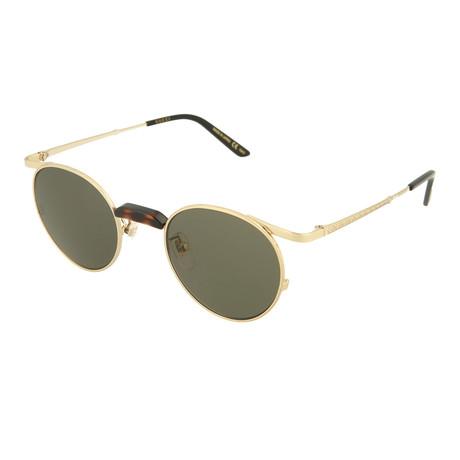 Men's Round Sunglasses // Shiny Endura Gold + Dark Havana