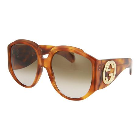 Women's Round Sunglasses // Shiny Blonde Havana