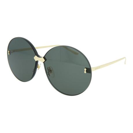 Women's Round Sunglasses // Gold + Gray