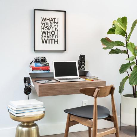 Hideaway Wall Desk (Walnut)