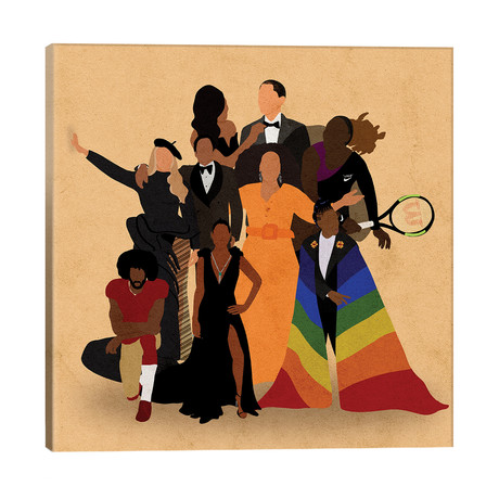 "Black Icons // Reyna Noriega (26""W x 26""H x 1.5""D)"