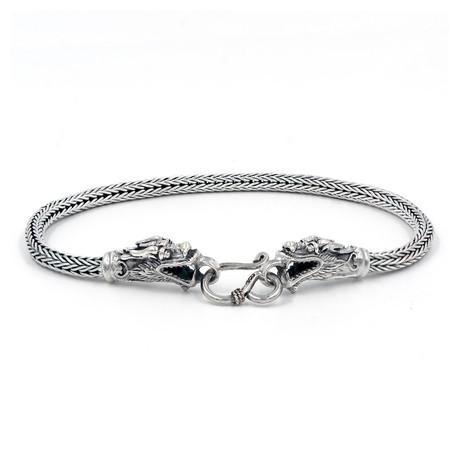 Men's Dragon Bracelet // Silver