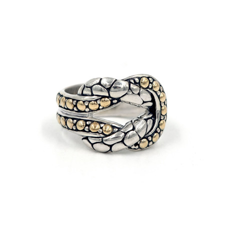 Women's Knot Ring // Silver + Gold (6)