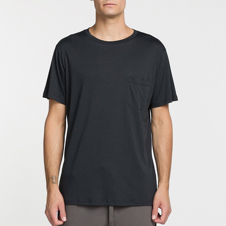 Crew Neck Pocket T-Shirt // Charcoal (S)