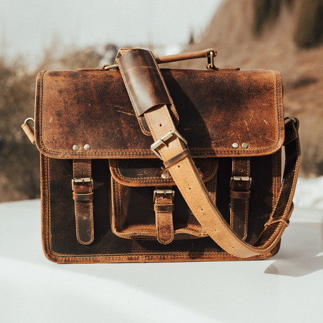 Buffalo Satchel // Antique Brown