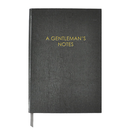 A Gentleman's Notes // Gray (Small Book)
