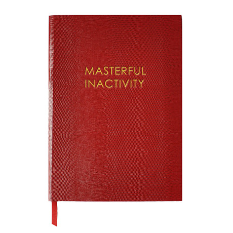 Masterful Inactivity // Red (Small Book)