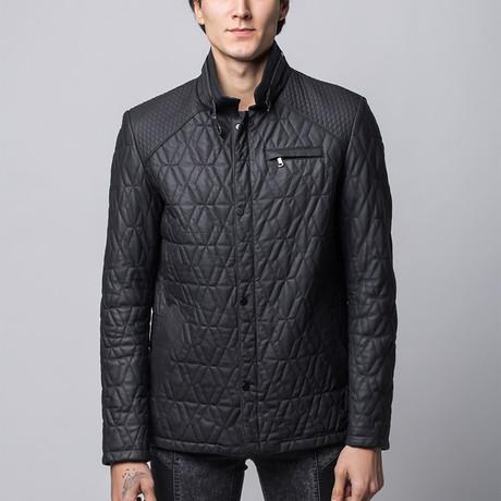 Keele Leather Jacket // Black (Euro: 46)