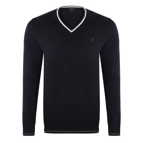 V-Neck Pullover // Navy (S)