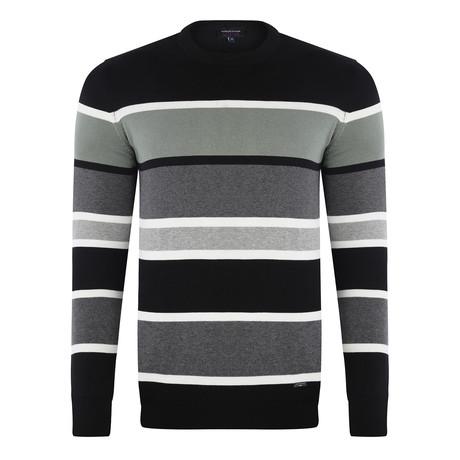 Stripe Pullover // Black (S)