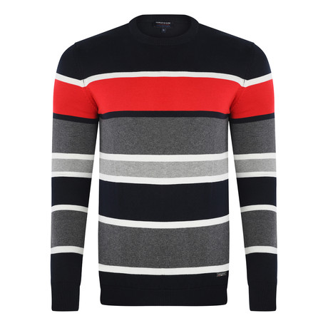 Stripe Pullover // Navy (XS)