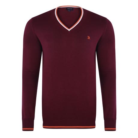 V-Neck Pullover // Purple (XS)