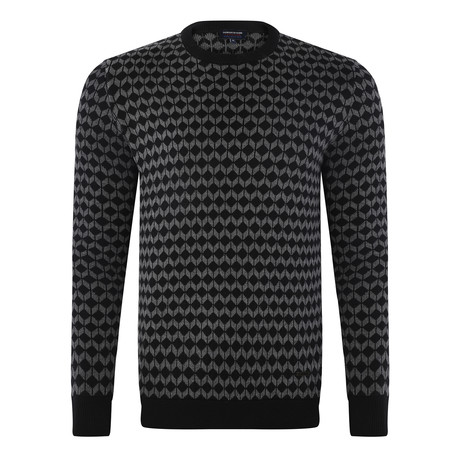 Geometric Pullover // Black + Anthracite (S)