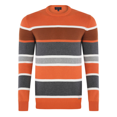 Stripe Pullover // Orange (S)