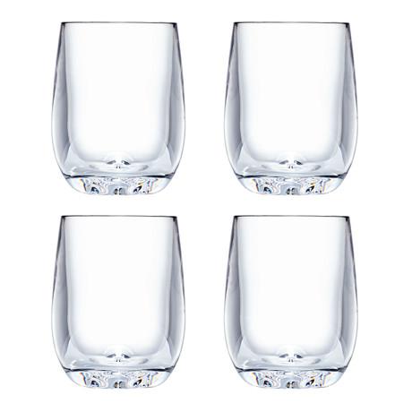 Strahl // Design+ Osteria Stemless Bordeaux // Set of 4