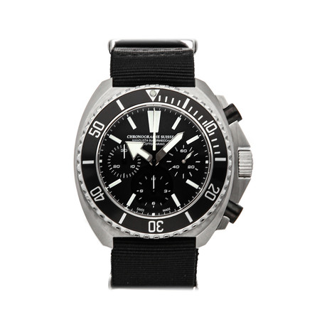 Chronographe Suisse Cie Mangusta Supermeccanica Sottomarino Automatic // MS-SOT261-3BK/BK // Pre-Owned