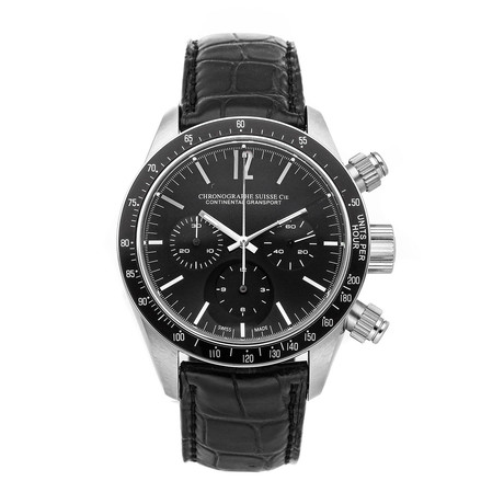 Chronographe Suisse Cie Continental Gransport Automatic // CG522-BK/BK-ALL // Pre-Owned