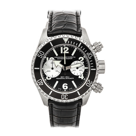 Chronographe Suisse Cie Continental Rivasport Automatic // CR521-BK/SLV-ALL