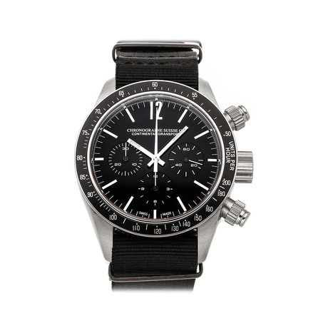 Chronographe Suisse Cie Continental Gransport Automatic // CG522-BK/BK-NYL