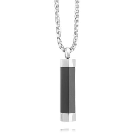 Hexagon Urn Pendant Necklace // Gunmetal