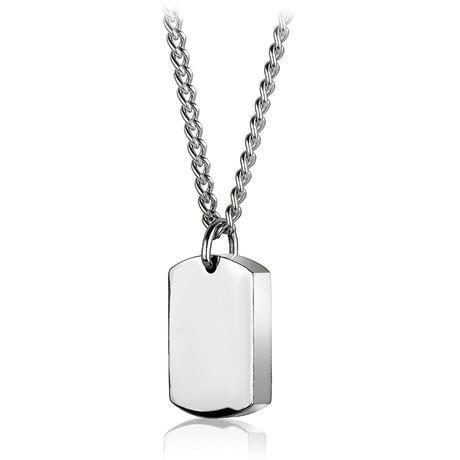 Reversible Pendant Necklace // Silver